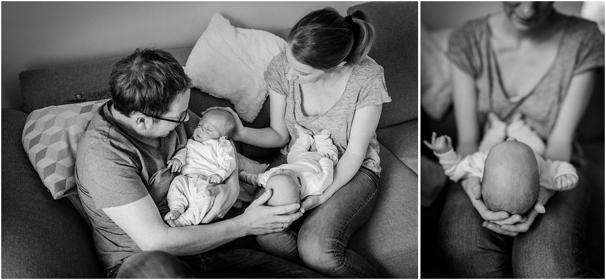 Familienfotos mit Zwillingen