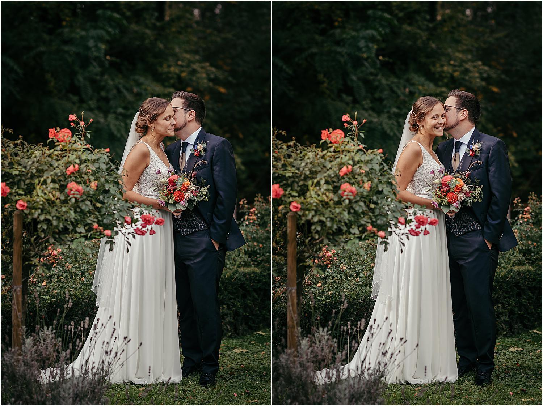 Brautpaar Shooting im Rosengarten in Neuss
